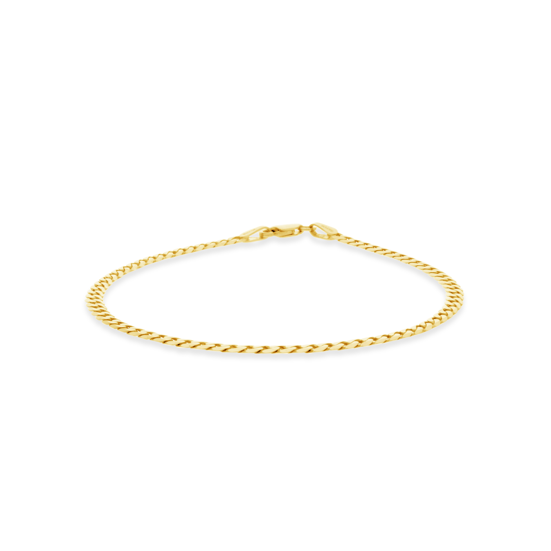 bb60e303063e 9ct Gold 19cm Curb Link Bracelet - NWJ