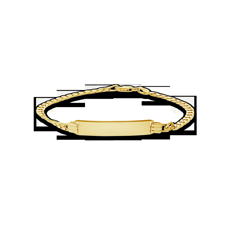 1580a16b370d 9ct Gold 19cm Curb Link ID Bracelet - NWJ