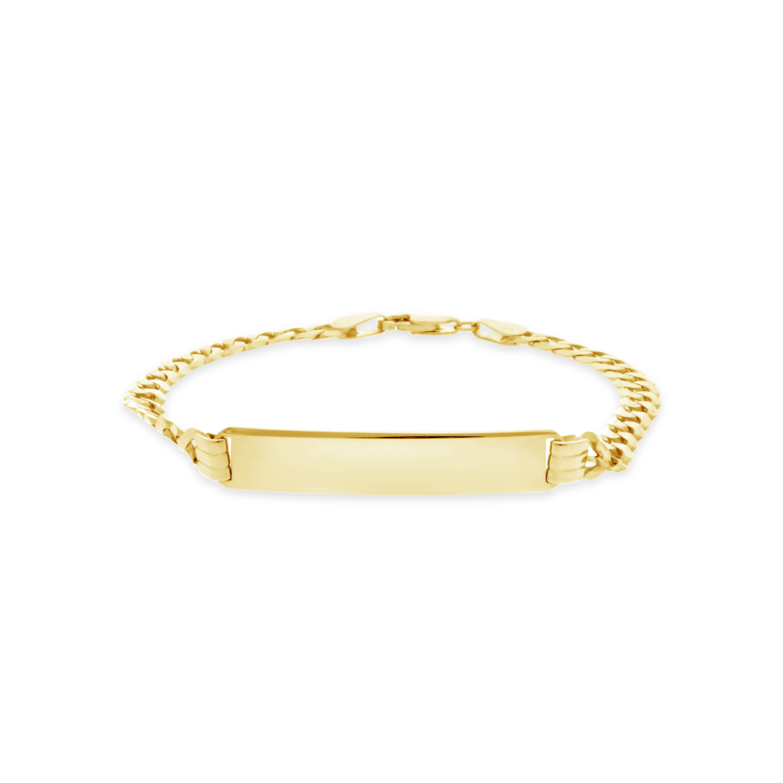 d44b206f781b Gents 9ct Gold 21cm Curb Link ID Bracelet - NWJ