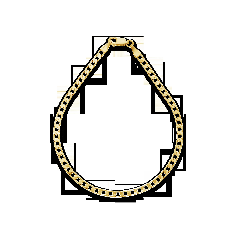 3e29e0bf9109 Gents 9ct Gold 21cm Curb Link Bracelet - NWJ