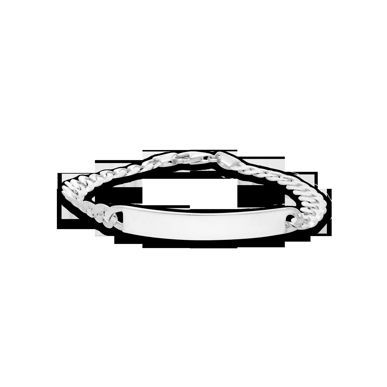c9a36d1a6260 Gents Silver 21cm Round Curb ID Bracelet - NWJ