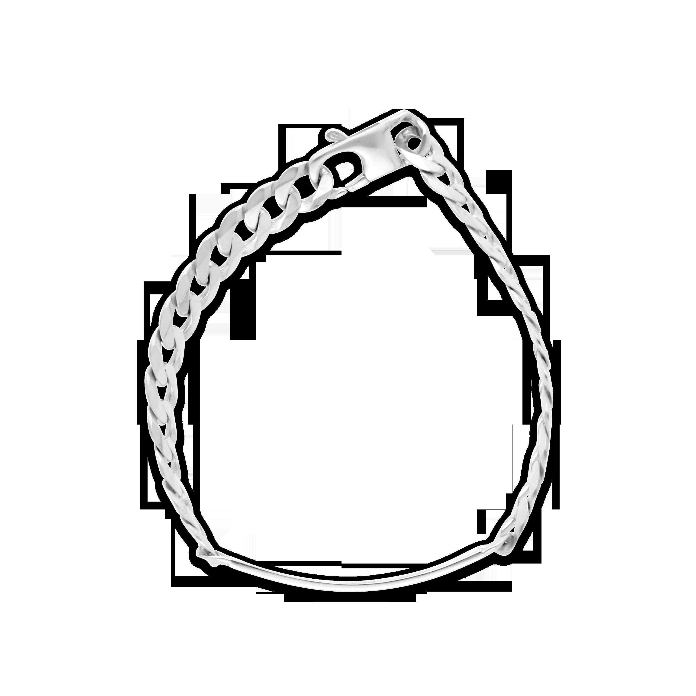 b5afee793c1c Gents Silver 21cm ID Curb Link Bracelet - NWJ
