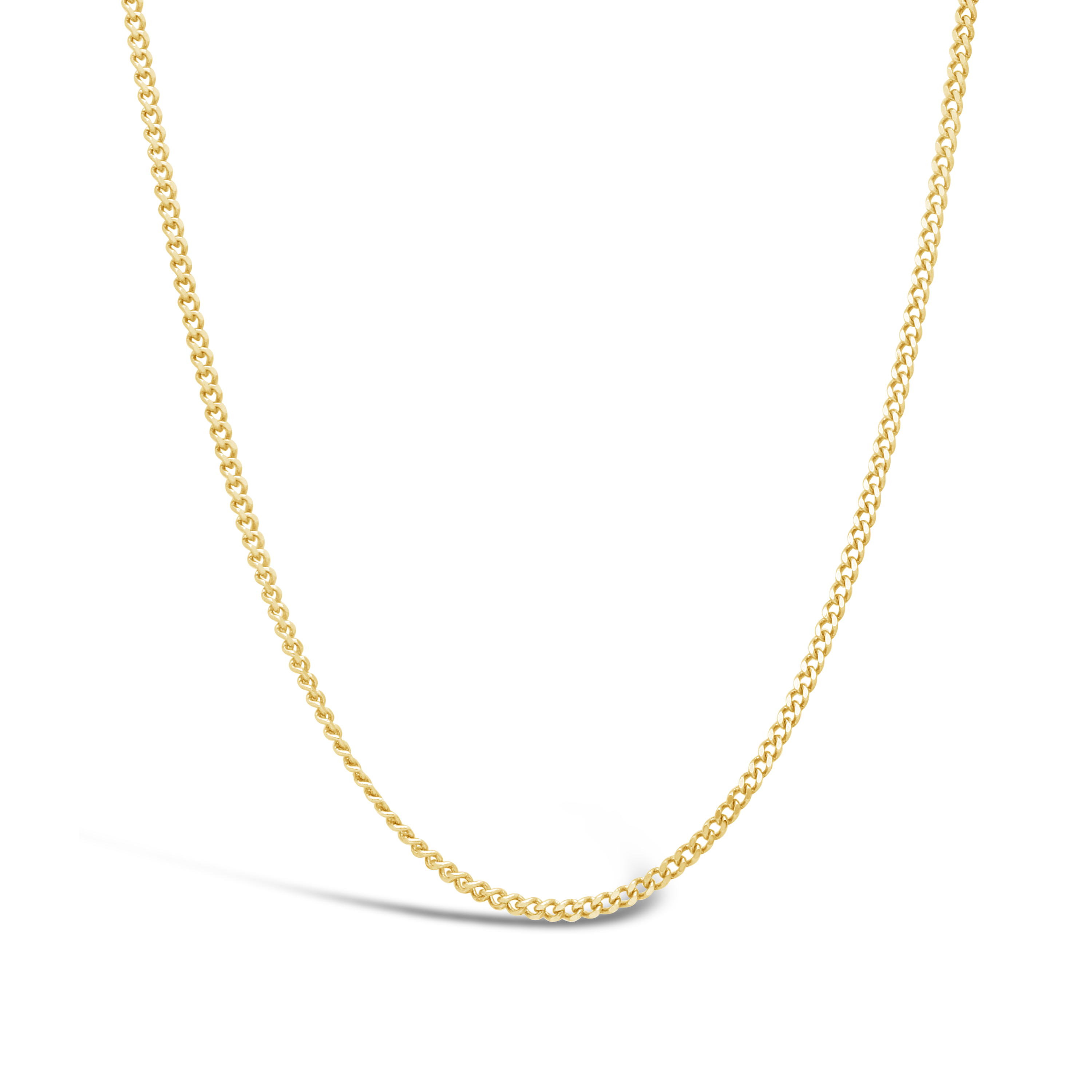 98ee310341a2 9ct Gold 40cm Curb Link Chain - NWJ