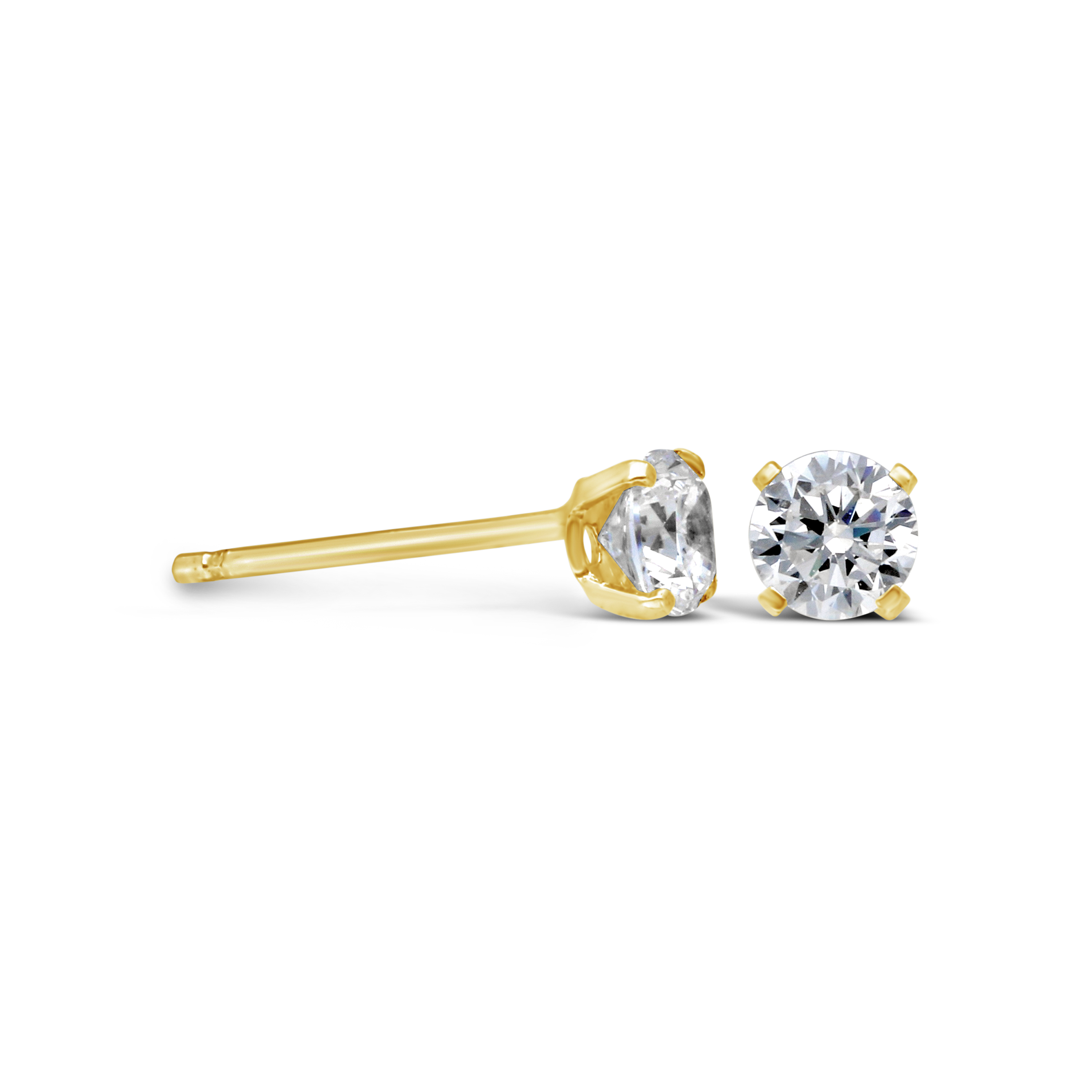 c1952c68d847 9ct Gold 4mm Cubic Zirconia Stud Earrings - NWJ