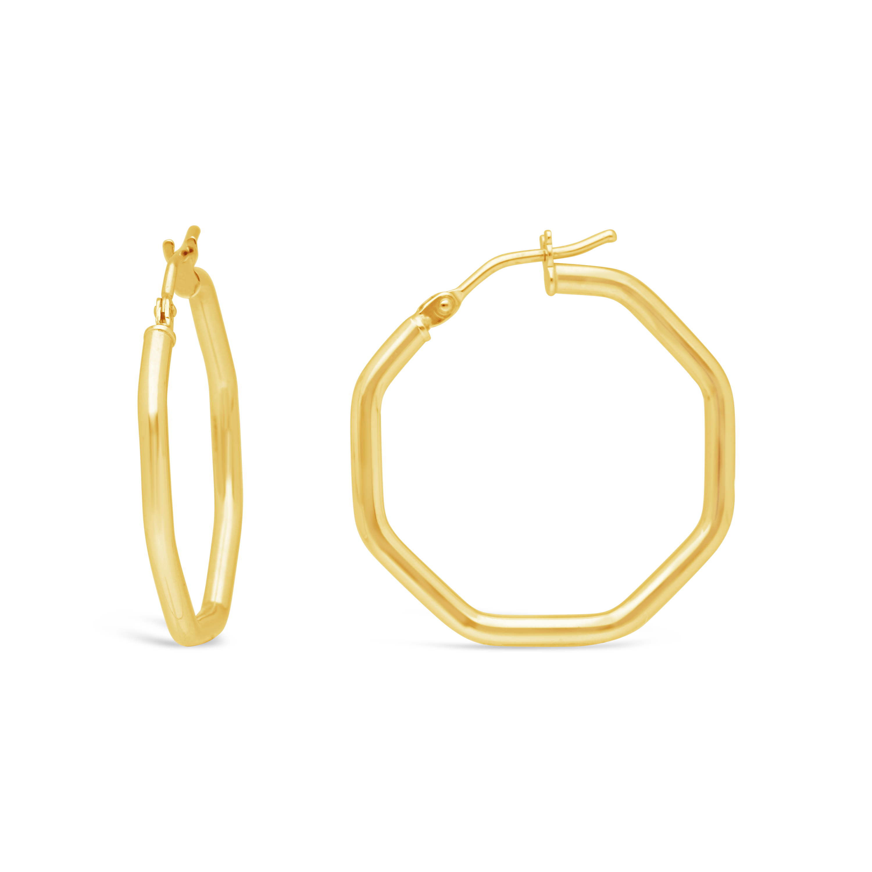 8b5face49d5e 9ct Gold Hoop Earrings - NWJ