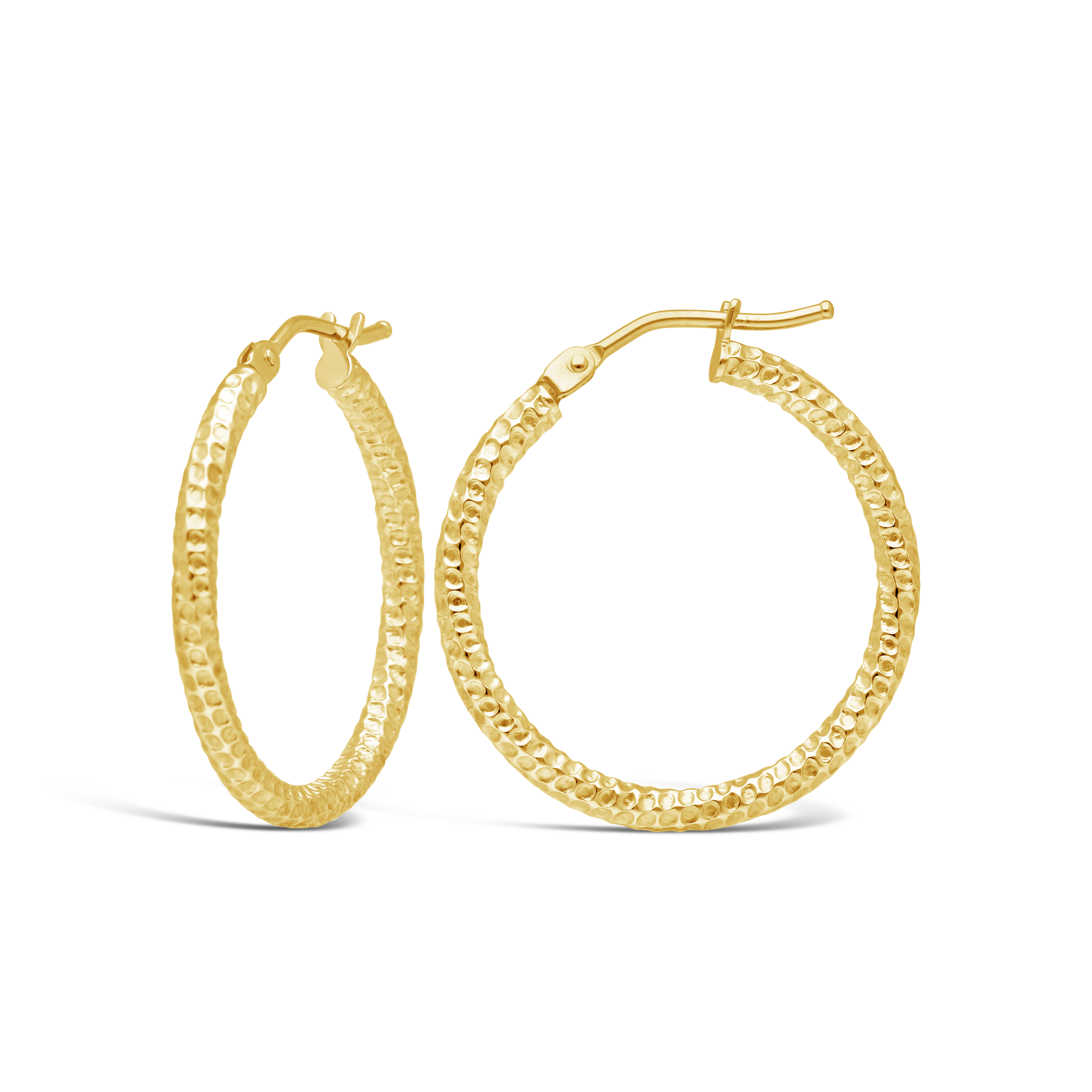 d732d3566f39 9ct Gold Mesh Hoop Earrings - NWJ