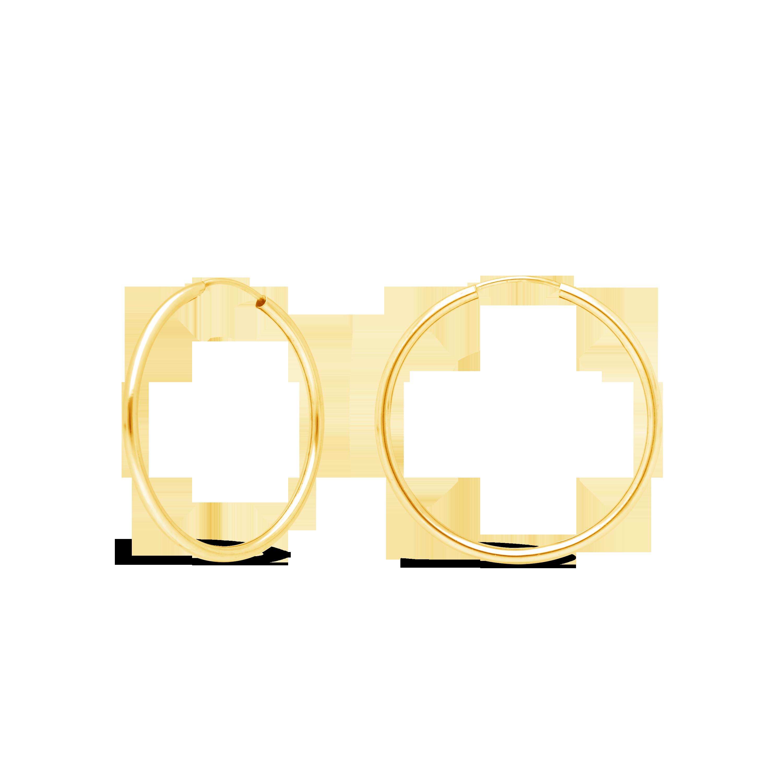 79b90c100 9ct Gold 25mm Sleeper Hoop Earrings - NWJ