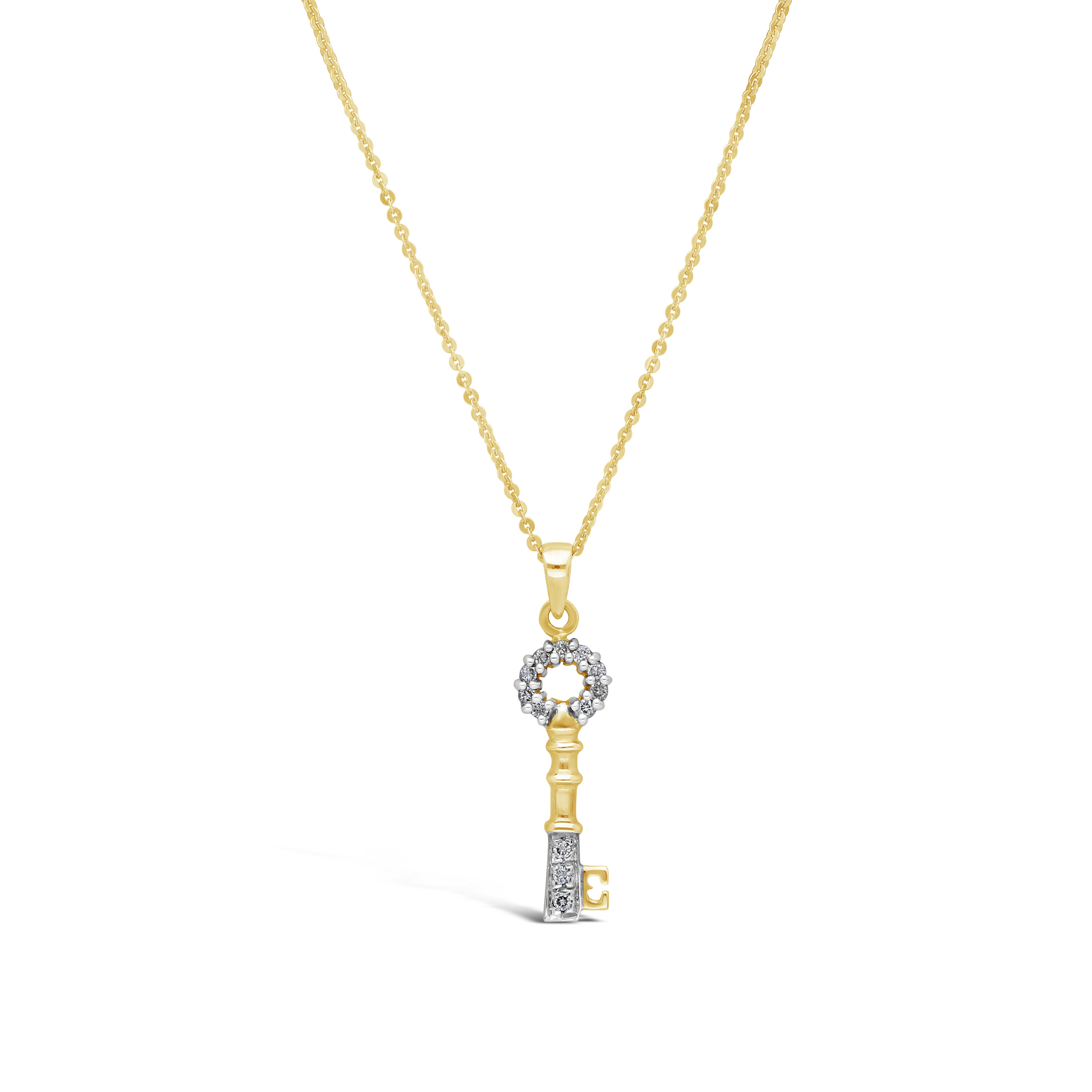 54ea7ecc85fc 9ct Gold Diamond Key Pendant - NWJ