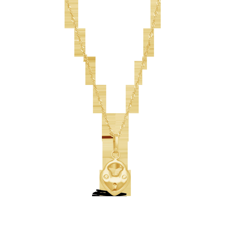 30a59a8e3a91 9ct Gold Padlock Charm - NWJ
