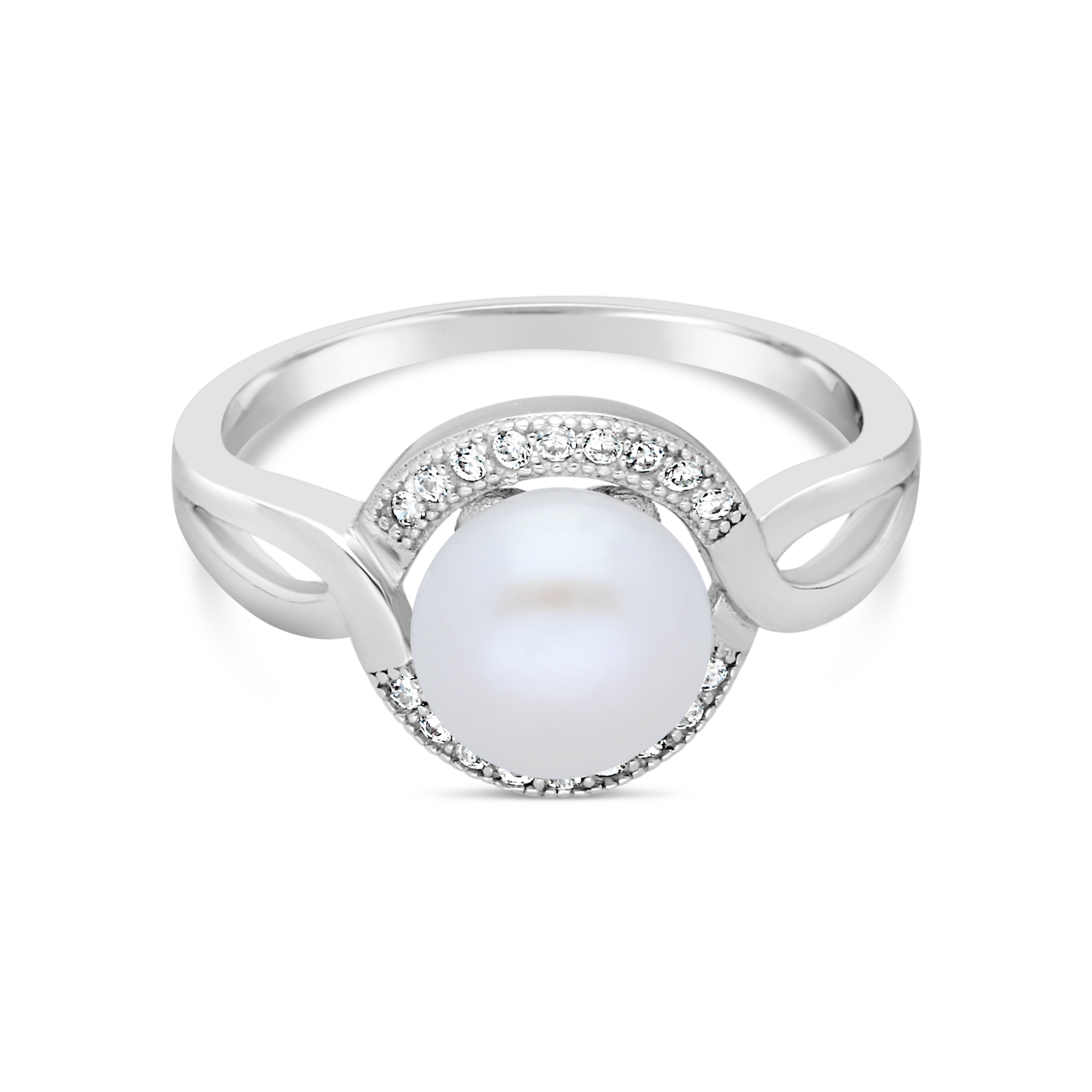 13ae86a7f Silver & Freshwater Pearl Cluster Ring - NWJ