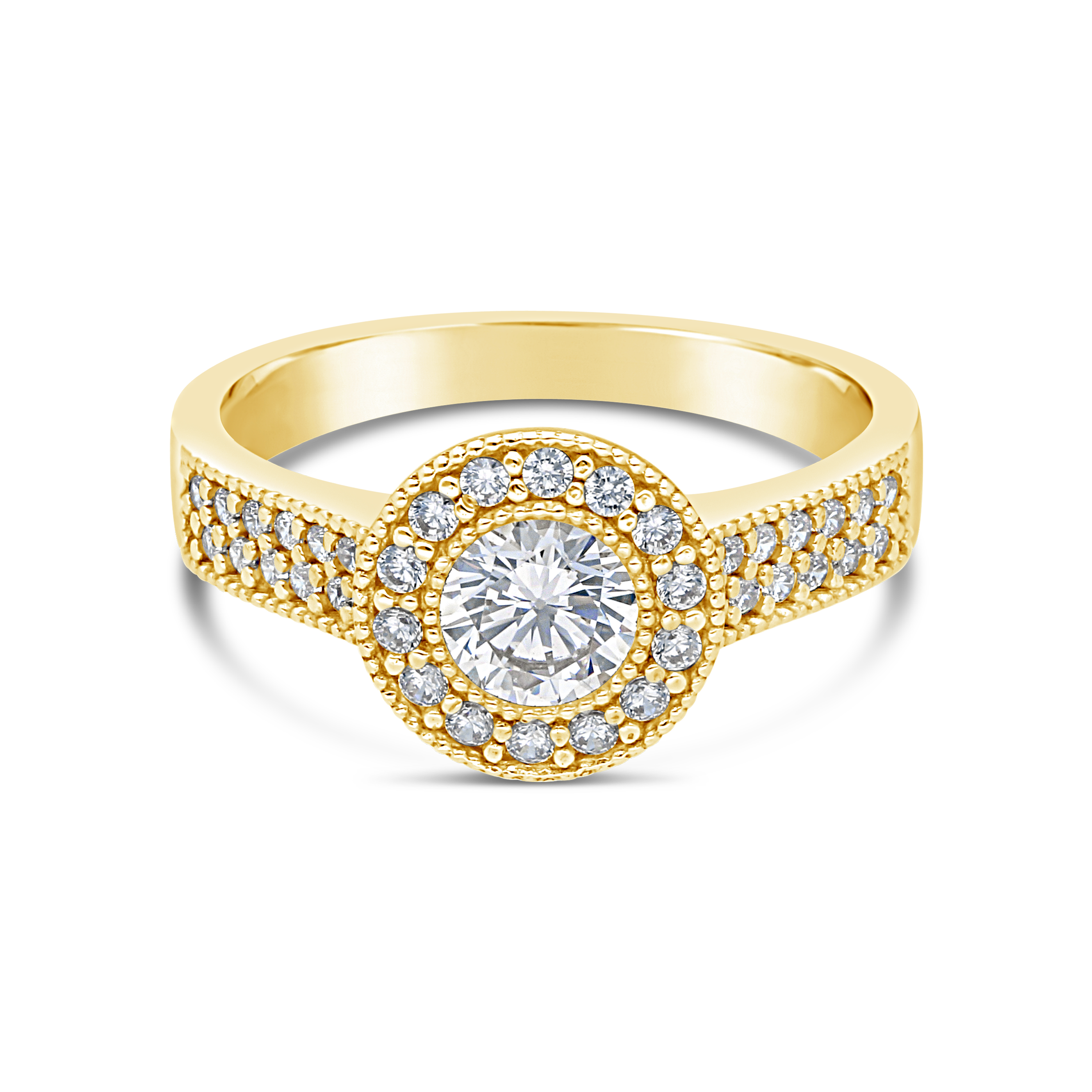 a5083b86054b 9ct Gold Round Cubic Zirconia Ring - NWJ