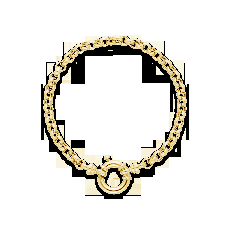 8f2c92925542 9ct Gold 19cm Belcher Bracelet with Senoretti Clasp - NWJ