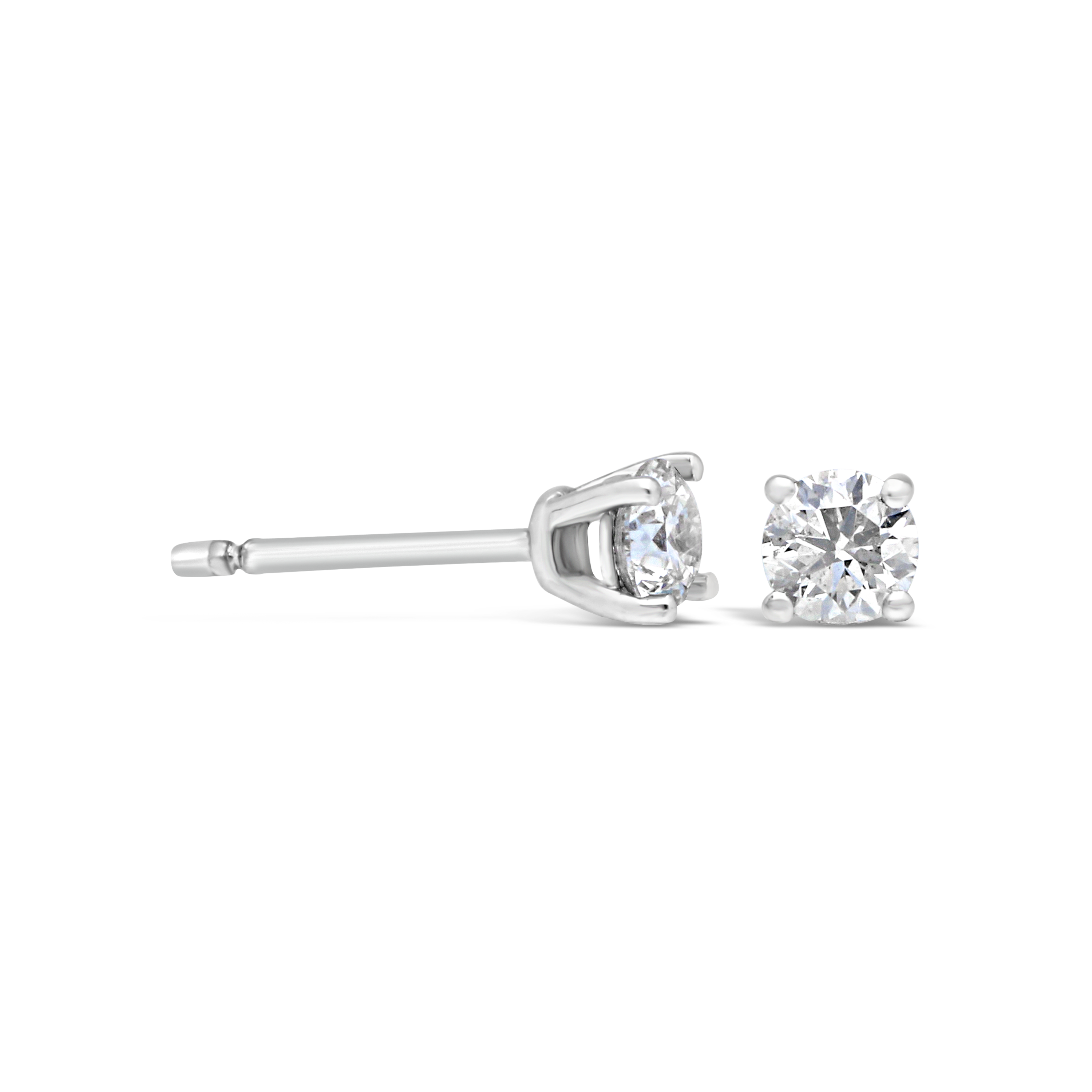 18ct White Gold 0 50ct Diamond Stud Earrings