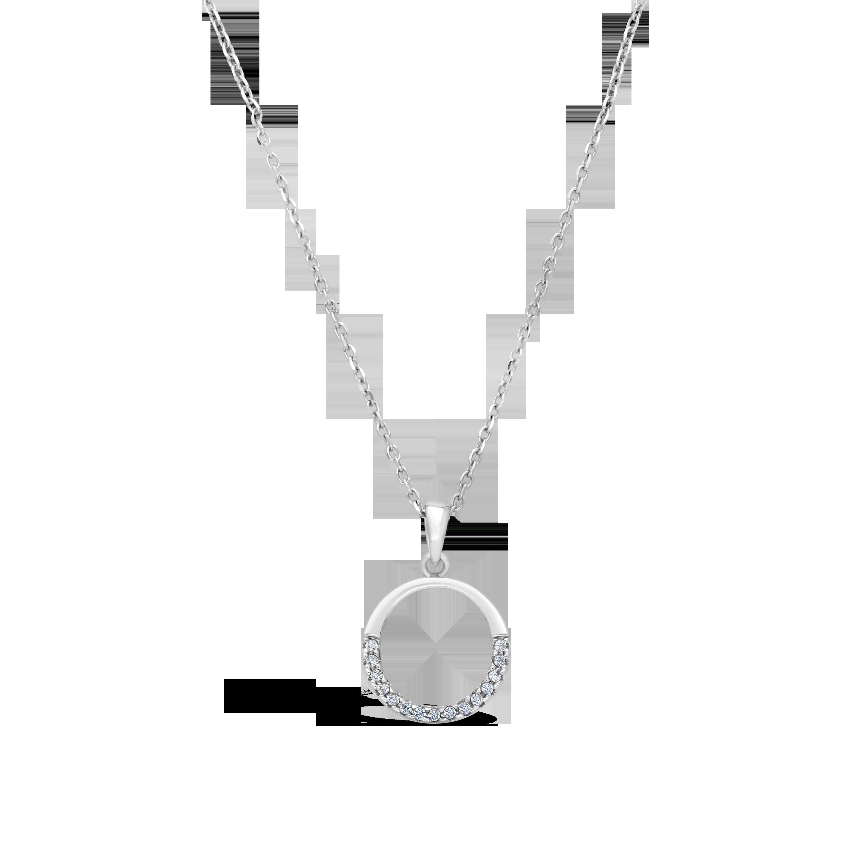 26a846c0de1eb 18ct White Gold Small Circle of Life Diamond Pendant