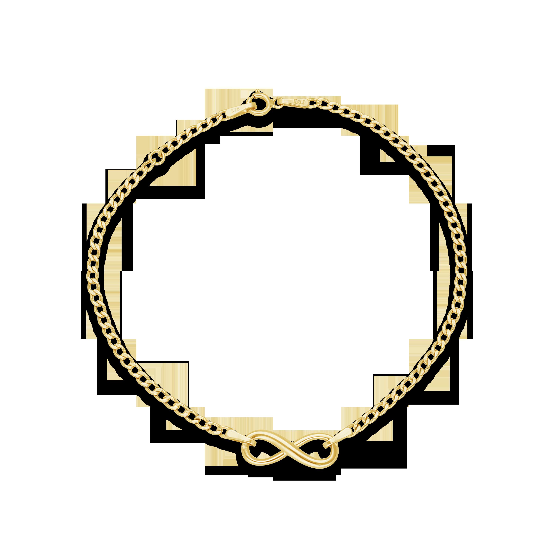 27652a2b9f07 9ct Gold Infinity Open Link Bracelet - NWJ