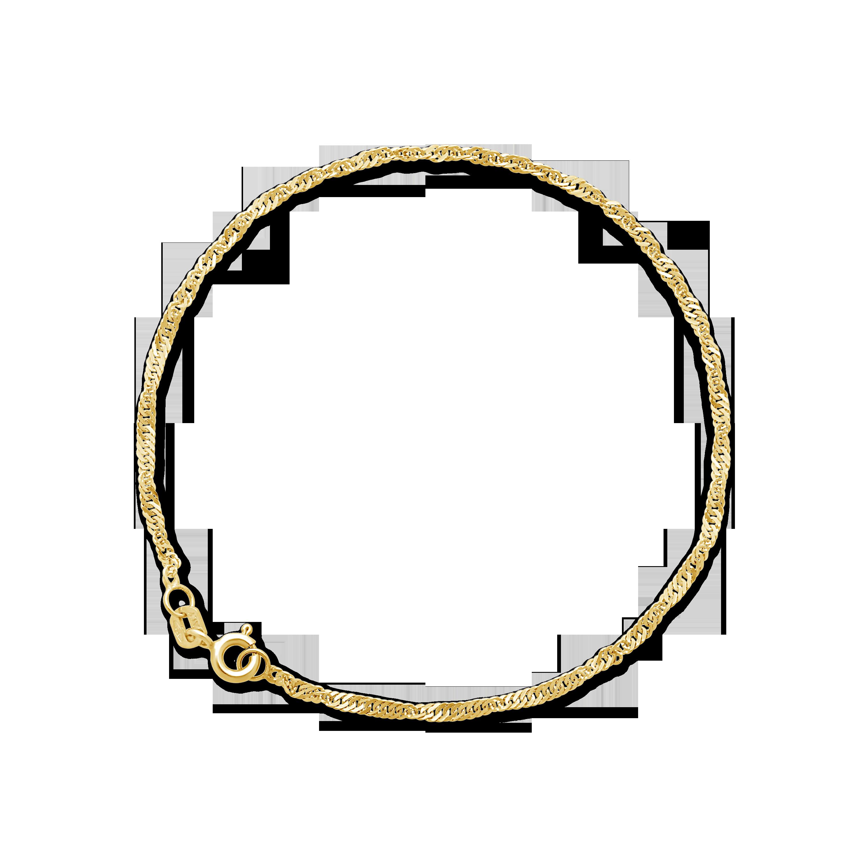a3b48d7af403 9ct Gold 19cm Singapore Bracelet - NWJ