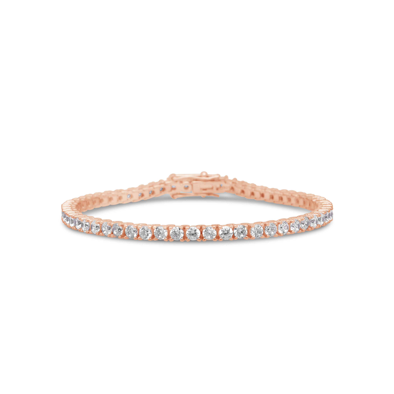 c4bdba6426ef Silver Rose Plated Cubic Zirconia 19cm Tennis Bracelet - NWJ