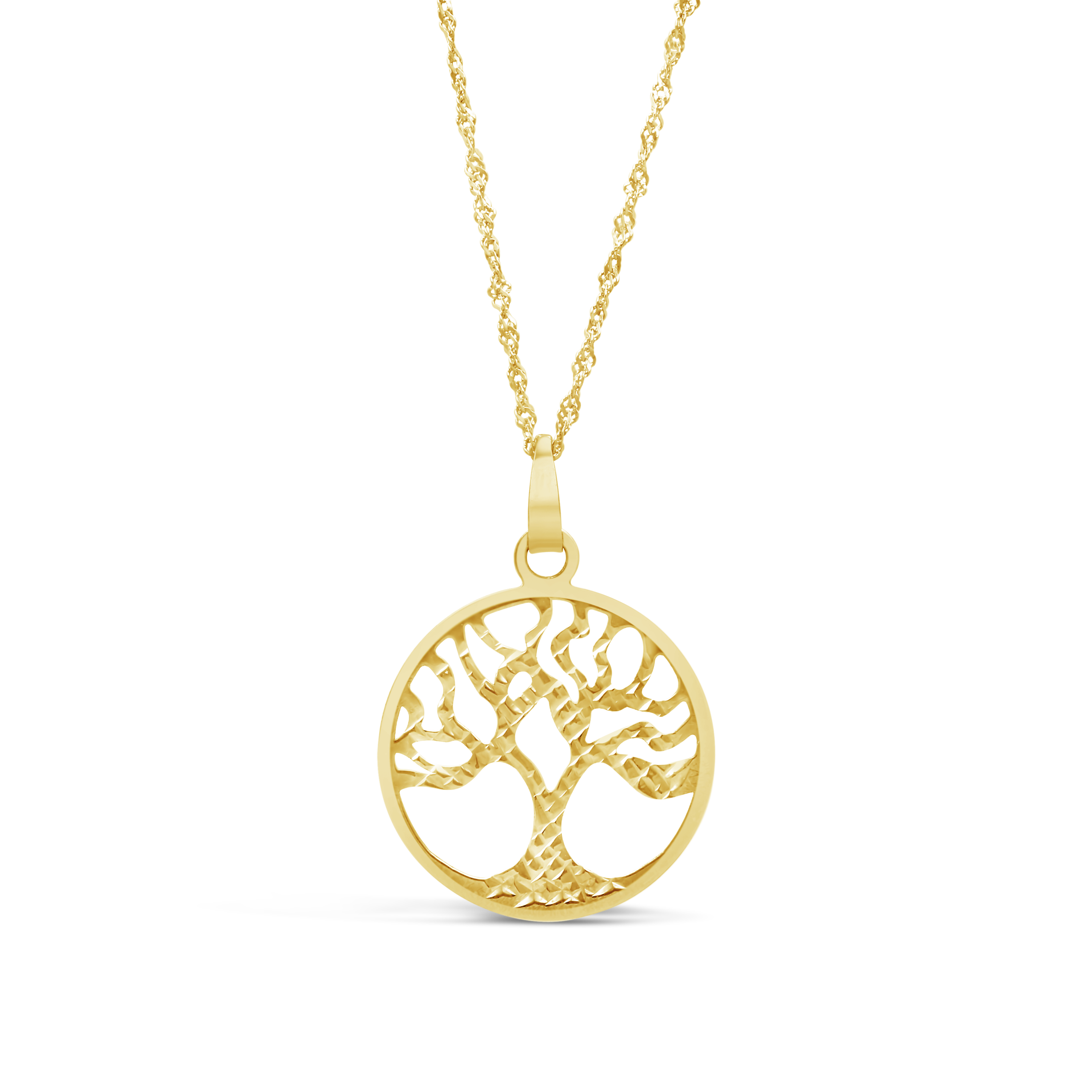 d52230ea6c3 9ct Gold Large Tree of Life Pendant with Free Bonded Chain - NWJ