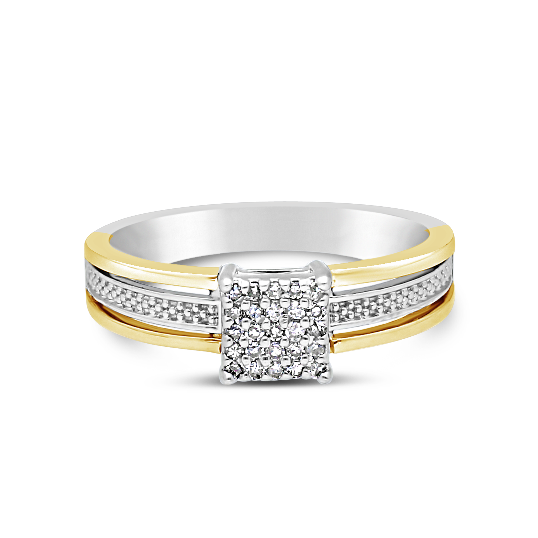 7bd5ae461a84b9 Silver and Gold Fancy Ladies Diamond Dress Ring - NWJ