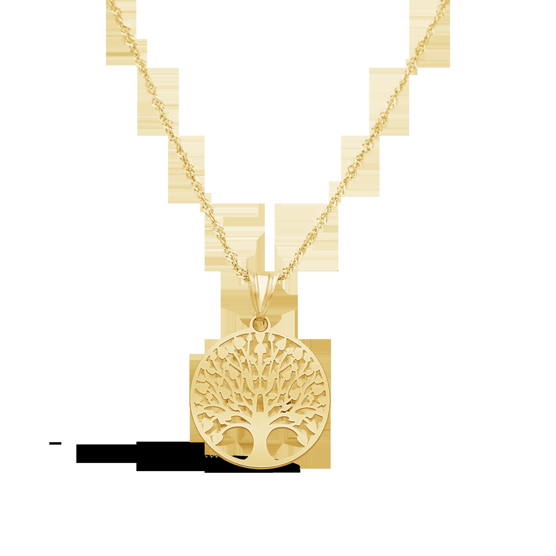 dc40b0659163e 9ct Gold Fancy Open Design Round Tree Of Life Pendant
